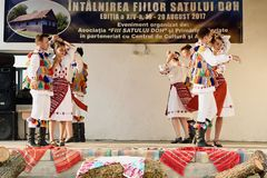 Romanian traditional dances from Salaj area, Romania Royalty Free Stock Photo