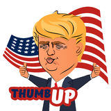 August 04, 2016 Donald Trump thumb up Stock Images