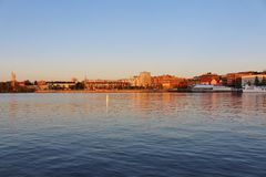 August evening in North Harbour Royalty Free Stock Images