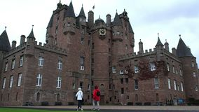 Glamis Castle, Scotland stock video footage