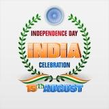 August fünfzehnter, Feier des Unabhängigkeitstags in Indien lizenzfreie abbildung