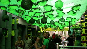 AUGUST: Festes de Gracia herein am 15 stock video footage