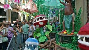 AUGUST: Festes de Gracia herein am 15 stock video