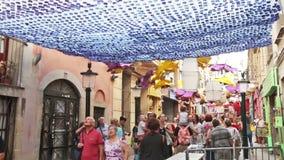 AUGUST: Festes de Gracia herein am 15 stock footage