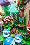 AUGUST: Festes de Gracia herein am 15 Pilze und Blumen Stockbild