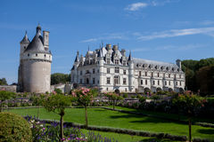 29 AUGUST 2015, FRANCE: French castle Chateau de Chenonceau. Located near the small village of Chenonceaux in the Loire Valley with his beautiful gardens stock image