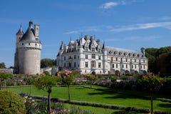 29. AUGUST 2015 FRANKREICH: Französisches Schloss Chateau de Chenonceau Stockbild