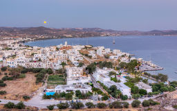 August full moon rise, Milos island, Greece Stock Photos
