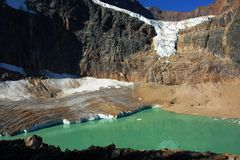 august glacier and lake royalty free stock photography