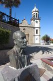 Bust dedicated to Isaac de Vega in Granadilla de Abona, Tenerife. August, 2018. Granadilla de Abona, SC de Tenerife, Spain. Bust dedicated to Isaac de Vega (1920 royalty free stock image