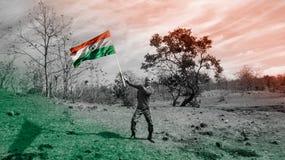 15 August Happy Independence Day av Indien arkivbild
