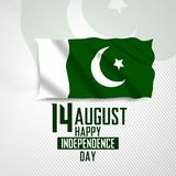 14 August Happy Independence Day Pakistan Ilustração Stock