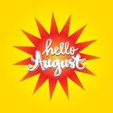 August Hello Arkivbild