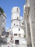 Holidays in puglia italy. 21 august 2017 holidays in puglia italy. Sanctuary of Monte Sant`Angelo, Italy. S Monte Sant Angelo, Apulia, south italy little stock photos