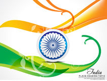 15 august indian independence day wave abstract. Vector illustration Royalty Free Stock Photo
