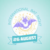 26 august  International Bat Night. Calendar for each day on august Stock Photography
