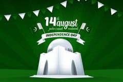 14 August Mubarak Pakistan Independence Day Vector Background Illustration vector illustration