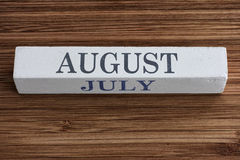 August and July months Stock Photos