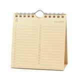 august kalender 2009 Arkivbilder