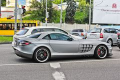 August 20, 2012. Kiev, Ukraine. Mercedes-Benz SLR McLaren 722 Edition stock photography