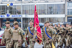 August 24, 2016. Kyiv, Ukraine. Military parade. August 24, 2016. Kyiv Ukraine Military parade for the Ukrainia royalty free stock photos