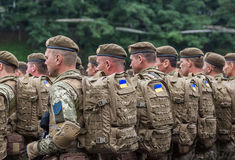 August 24, 2016. Kyiv, Ukraine. Military parade. August 24, 2016. Kyiv Ukraine Military parade for the Ukrainia stock image
