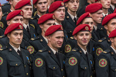 August 24, 2016. Kyiv, Ukraine. Military parade. August 24, 2016. Kyiv Ukraine Military parade for the Ukrainia Stock Image