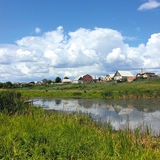 August landscape. A summer landscape with small lake Stock Image