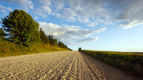 August landscape with a road Royalty Free Stock Photography