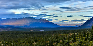 AUGUST 26, 2016 - Landscape views of Central Alaskan Range - Route 8, Denali Highway, Alaska,a dirt road offers stunning views of  Royalty Free Stock Images