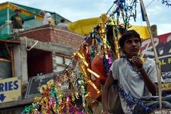 Leh (India, Ladakh) - Hindu celebration on the streets Stock Image