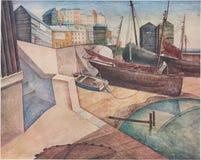 AUGUST LUNN, A r C A Hafen - veröffentlicht im Studio Magazin, London CIRCA 1910 lizenzfreie stockbilder