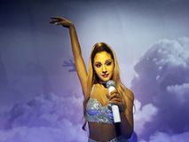 Wax figure of Ariana Grande, Madame Tussauds, Amsterdam. royalty free stock images