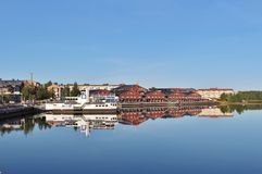 August morning in Luleå Royalty Free Stock Photos