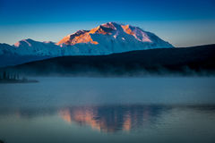 AUGUST 28, 2016 - Mount Denali at Wonder Lake, previously known as Mount McKinley, the highest mountain peak in North America, at  Royalty Free Stock Photography