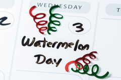 August 3, national watermelon day Royalty Free Stock Image