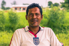 26. August 2014 - nepalesischer Mann in Sauraha, Nepal Lizenzfreies Stockfoto
