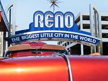 August Nights quente, Reno do centro, Nevada Foto de Stock Royalty Free