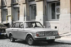 Lviv, Ukraine - August 37, 2018: Old Volvo car in the old city stock image