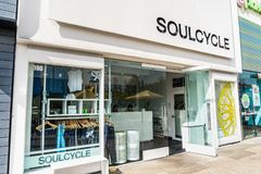 August 28, 2019 Palo Alto / CA / USA - Soulcycle location in Stanford Shopping Center, Silicon Valley; SoulCycle is a New York