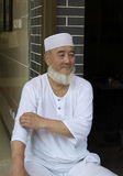 7. August 2013: Reste eines Moslemmannes außerhalb eines Restes Lizenzfreie Stockfotos