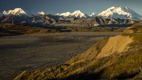 August 30, 2016 - The road up to Polychome Pass, Denali National Park, Alaska Stock Photo
