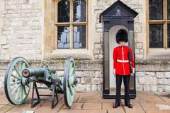 AUGUST 21, 2017 : Royal Guard at Tower of London, England. Stock Images
