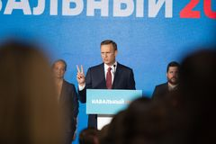 29 August 2017, RUSSIA, MOSCOW : Leader of the Russian opposition Alexei Navalny Royalty Free Stock Photo