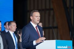 29 August 2017, RUSSIA, MOSCOW : Leader of the Russian opposition Alexei Navalny Stock Photo