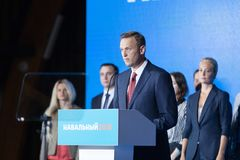 29 August 2017, RUSSIA, MOSCOW : Leader of the Russian opposition Alexei Navalny Royalty Free Stock Images