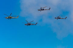 August 6, 2016. Ryazan, Russia. The helicopters of the Military Stock Images
