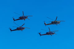 August 6, 2016. Ryazan, Russia. The helicopters of the Military Stock Photos