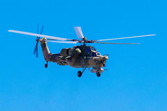 August 6, 2016. Ryazan, Russia. The helicopters of the Military Stock Image