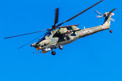 August 6, 2016. Ryazan, Russia. The helicopters of the Military Stock Photography